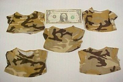 Lot 5 Greek Doll Camo Safari Shirts Tops Camouflage, Africa Desert Outback New