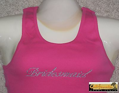 """BRIDESMAID"" Fuschia Tank Top American Apparel Shirt Wedding Junior Womens Size"