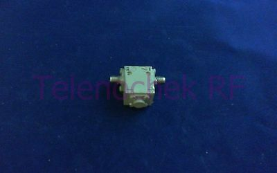 RF microwave single junction isolator 6300 MHz - 11.2 GHz /  20 Watt / data