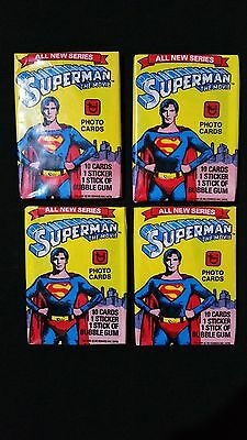 1978 Topps Superman Series 2 Wax Pack 4 Pack Lot