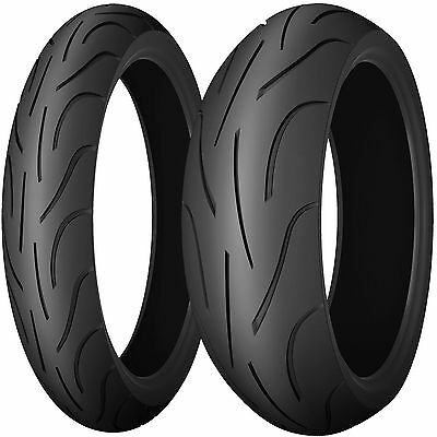 Pair Of 120/70/17 & 180/55/17 Michelin Pilot Power Motorcycle Bike Touring Tyres
