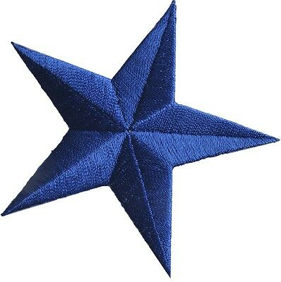 """3"""" Blue Star Embroidery Iron On Applique Patch"""