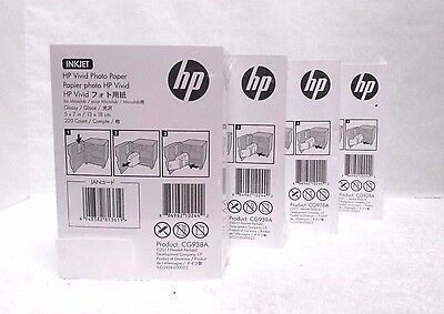 HP InkJet Vivid  5 x 7 Glossy Photo Paper 880 Count CG938A ~Sealed~