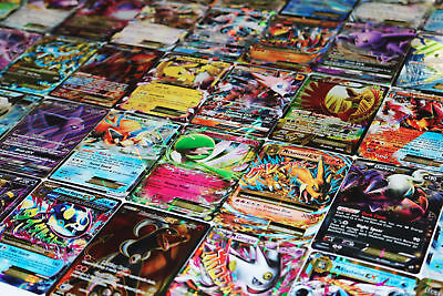Pokemon TCG : 100 CARD LOT RARE, COM/UNC, HOLO & GUARANTEED EX, MEGA OR GX!!