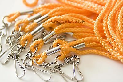 Wholesale Orange Rope Round Neck Lanyards With Swivel J Hook - Quantity 100 Pcs