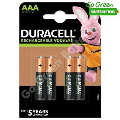 4 x Duracell AAA 900 mAh Rechargeable Batteries (Was 850) NiMH LR03 HR03 Phone