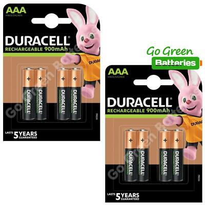 8 x Duracell AAA 900 mAh Rechargeable Batteries (Was 850) NiMH LR03 HR03 Phone