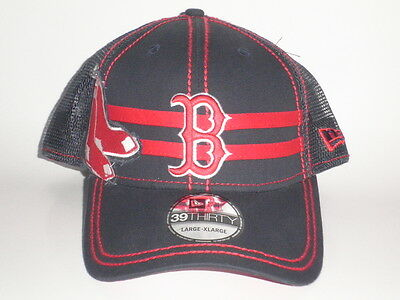 MLB NEW ERA 39Thirty Boston Red Sox Double Mesh Flex Fit Small ... 3a5584e536d