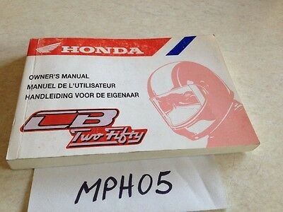 Manuel propriétaire Honda CB250 two fifty CB 250 Owner's manual