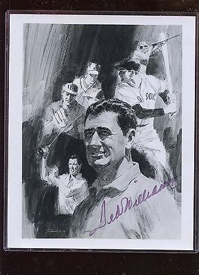 Ted Williams Black & White Print Autographed  Hologram