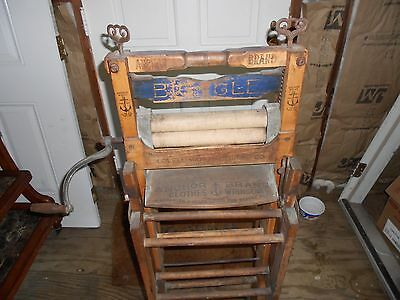 Antique Anchor Brand Lovell Pat. 1898 Folding Double Rack Clothes Wringer Washer