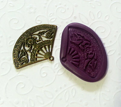 Silicone Mold Ancient Chinese Fan (37mm) - Sugarcraft Jewelry Necklace Earrings