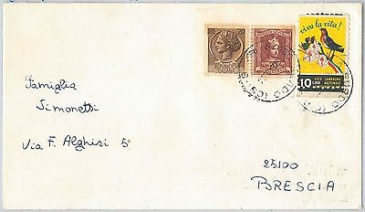 ITALY -  POSTAL HISTORY - POSTER STAMPS Labels on COVER -  BIRDS MEDICINE 1964