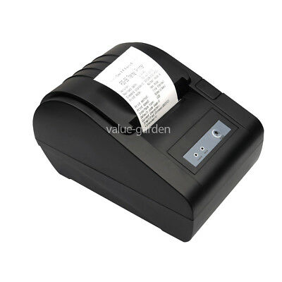 58mm USB Black POS Thermal Receipt Printer Office High Quality + Free Paper Roll