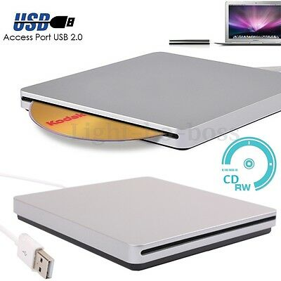 USB External Load Optical CD RW DVD Player Drive for Apple MAC Win 7 8 Notebook