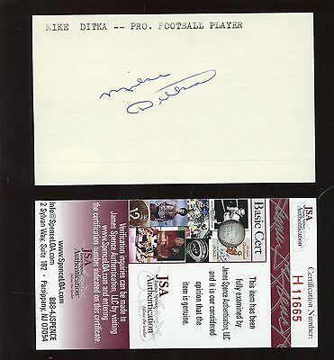 Mike Ditka Signed / Autographed Index Card JSA