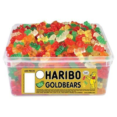 Haribo Mini Goldbears Sweets - 600 in a Tub - Party bag filler wedding favour