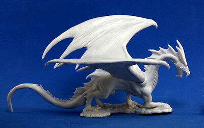 1 x SHADOW DRAGON  - BONES REAPER figurine miniature d&d jdr rpg ombre 77108