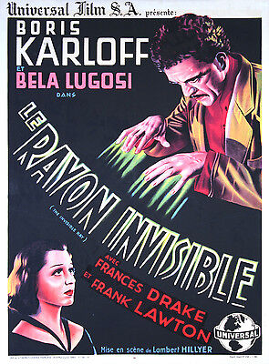 The Invisible Ray - French Poster - Very Rare