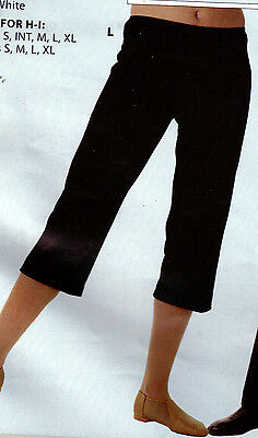 NEW Black CAPRI DANCE PANTS child/adult for costuming theatrical polyester knit