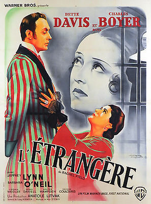 All This And Heaven Too - Original French Poster - Very Rare