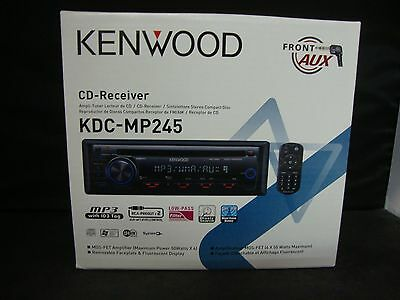 Kenwood Car Stereo KDC-MP245 CD/MP3/FRONT AUX