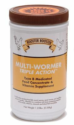 Rooster Booster Triple Action Multi-Wormer Medicated Feed Concentrate 1.25lb