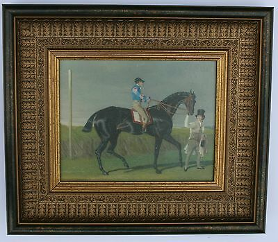 Horse and Jockey  Framed Oleograph 202#W   Reproduction Antiques  , Art
