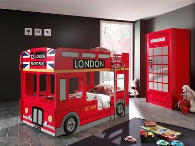 Kinderzimmer Set London Bus Komplettset Jugendzimmer Rot