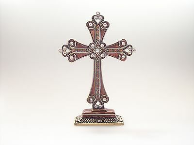 Luxury Standing Metal Cross / Crystal - Pearl Decoration --  CR01 -- On Sale