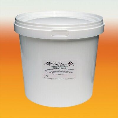 Citric Acid 10kg Bucket - Food Grade - Bath Bombs, Wine Making, Descaler