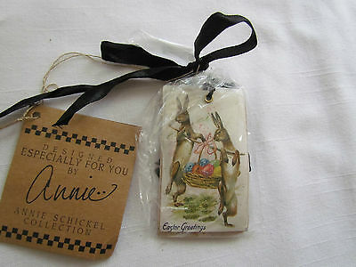 Vintage Style Graphic paper small EASTER Card Ornaments Tag 6pc NEW 13920