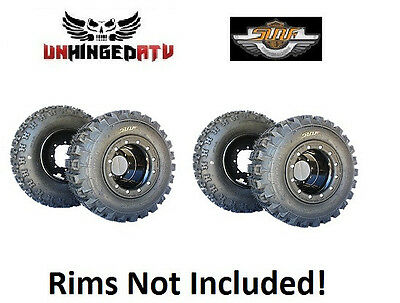 (4) 20x11-9, 21x7-10 XC Tires Master the trails! TRX 450R 250R YFZ LTR Raptor DS