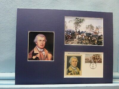 Nathaniel Greene wins The Battle of Eutaw Springs & First day Cover