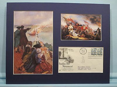 The Battle of Bunker Hill viewed from Boston by its citizens & First day Cover