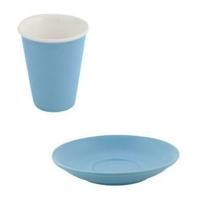 6x Latte Cup & Saucer Breeze Blue 200mL Bevande Coffee Cups Hot Chocolate