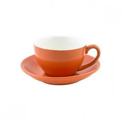 6x Cappuccino Cup & Saucer Set Jaffa Orange 200mL Bevande Tea Coffee Cups