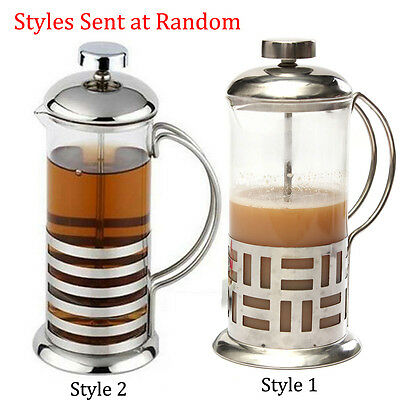 Coffee Plunger 3 Cup 350ml Stainless Steel Glass Cafetiere French Filter Coffee
