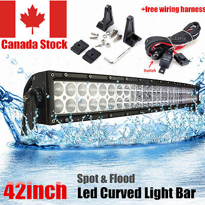 42Inch 240W Led Curved Work Light Bar Combo Beam Driving Offroad 4Wd Suv Ute Atv