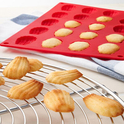 20 Cavity Mini Fancy Madeleine Shell Cake Cookie Pan Silicone Mold Baking Mould