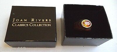 Joan Rivers Classics Collection Faux Tortoise Shell New Old Stock Sz 6.5 Ring!!!