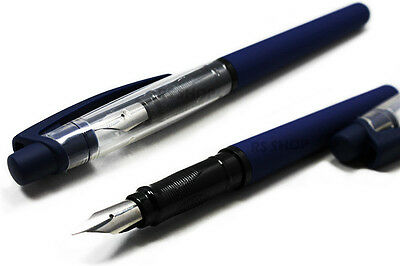 3 X Fountain Pens Iridium Nib Blue Cartridge Ink Calligraphy Writing & 9 Inks