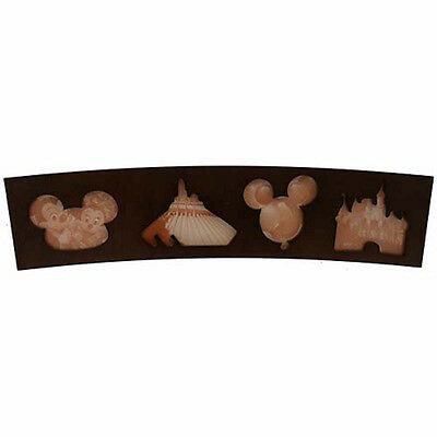 disney parks wood them park icons collage picture frame new