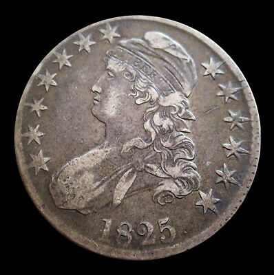 1825 Silver Capped Bust Half Dollar Coin -Very Fine Condition