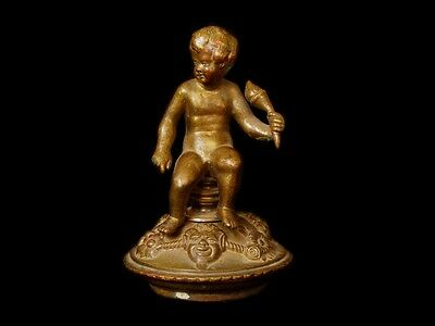 VERY NICE Antique Late-18th C. French Gilt Bronze Putti Sculpture Paperweight