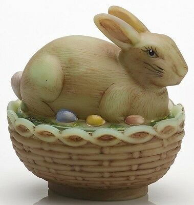 Jade Antiqued Glass Covered Bunny Rabbit Dish - Mosser