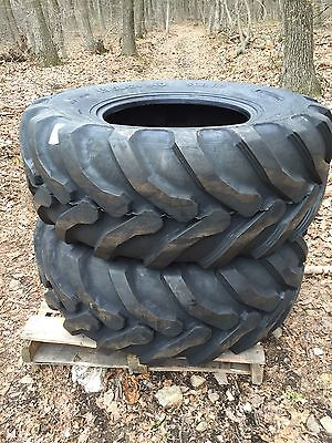 2 NEW Solideal Backhoe Tires SLA R4 - 19.5LX24 - 19.5L-24 - 19.5X24 - 19.5-24