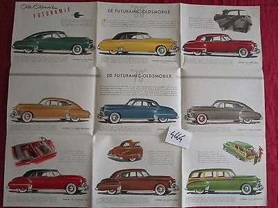 N°4664 /  OLDSMOBILE futuramic grand dépliant poster gamme type 76 et 98