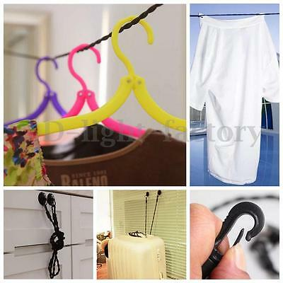 1.5m Pegless Washing Line Camping Travel Indoor Clothes Laundry Holiday No Pegs