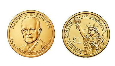 USA: 1 dolar 2015 P - 34 º Presidente Dwight D. Eisenhower - 1$ USA